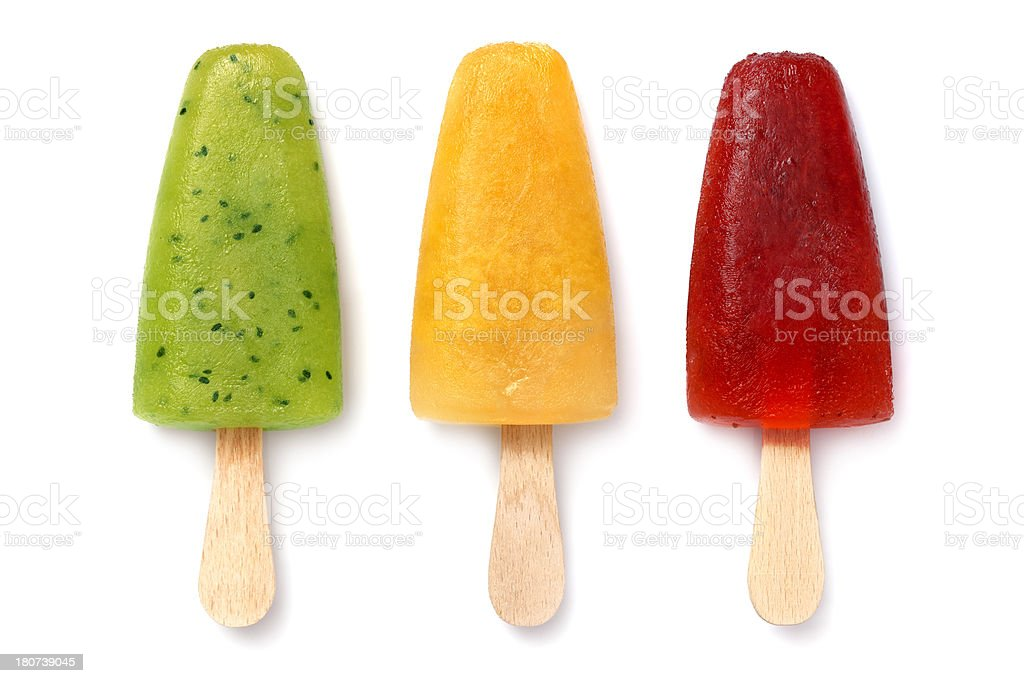 Homemade popsicles stock photo