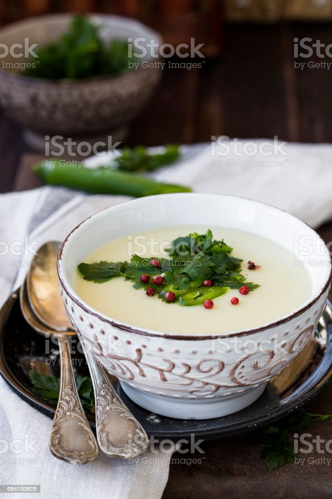 homemade potato cream soup foto stock royalty-free