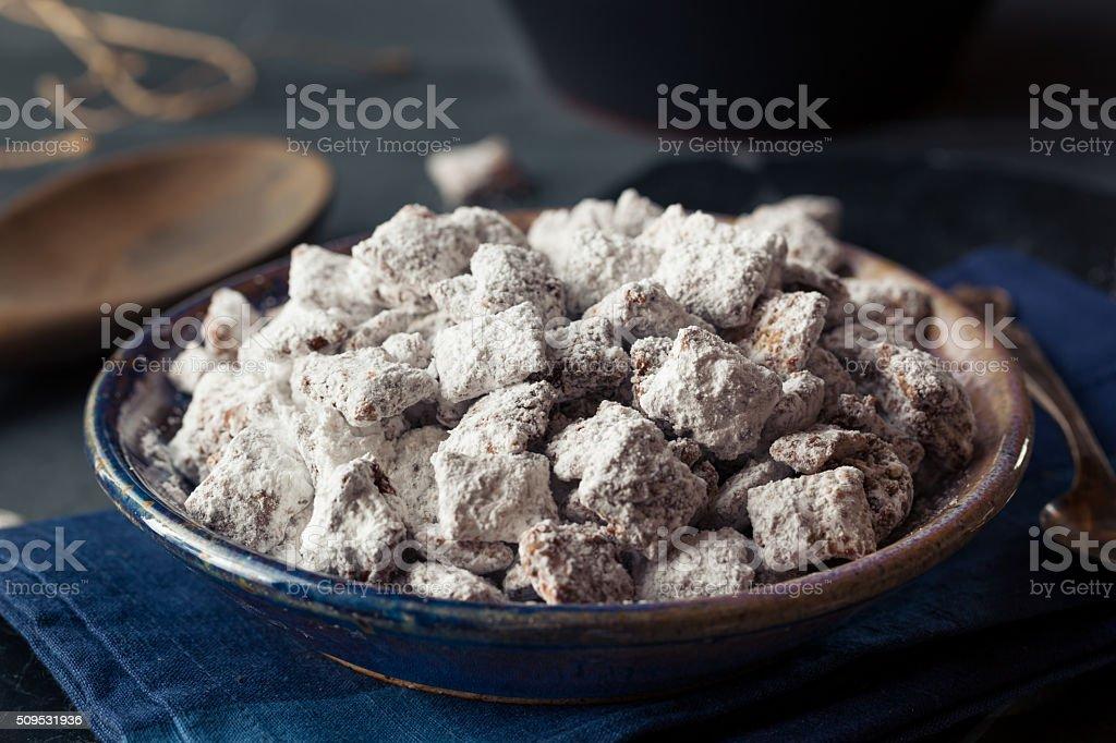 Homemade Powdered Sugar Puppy Chow royalty-free stock photo