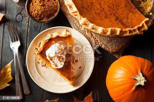 Homemade Pumpkin Pie for Thanksgiving Ready to Eat