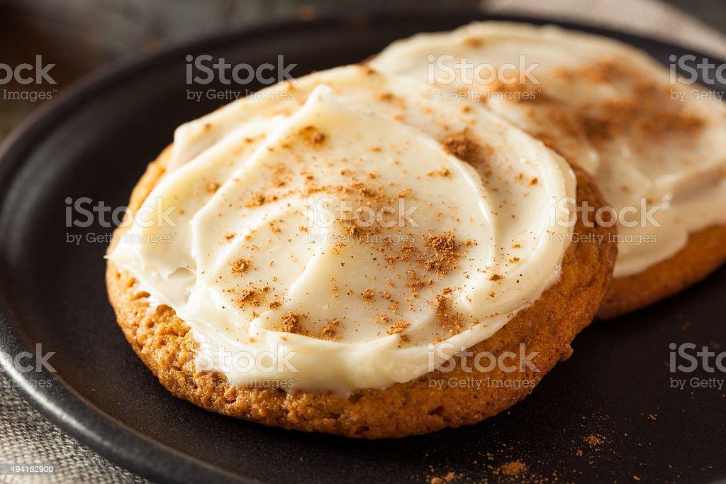 Homemade Pumpkin Spice Cookies stock photo