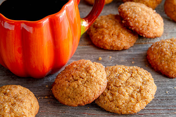Homemade Pumpkin Spice Cookies stock photo