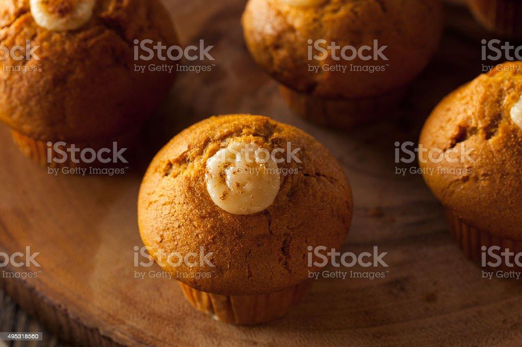 Homemade Pumpkin Spice Muffins stock photo