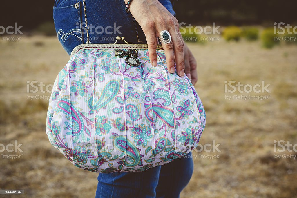 homemade purse stock photo