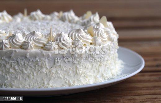 istock Homemade Raffaello Cake (Coconut Almond Cake) 1174356116