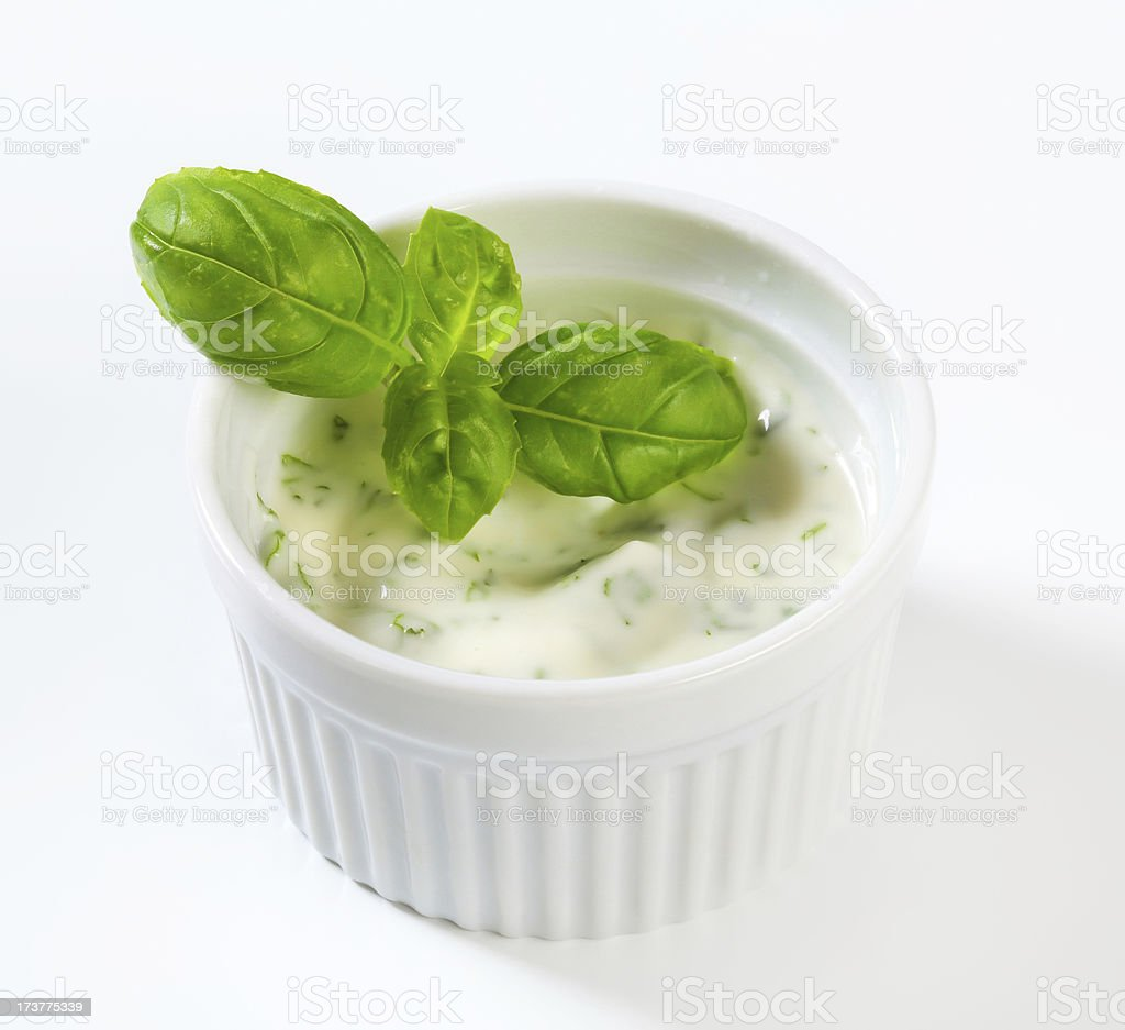 Homemade Ranch dressing royalty-free stock photo