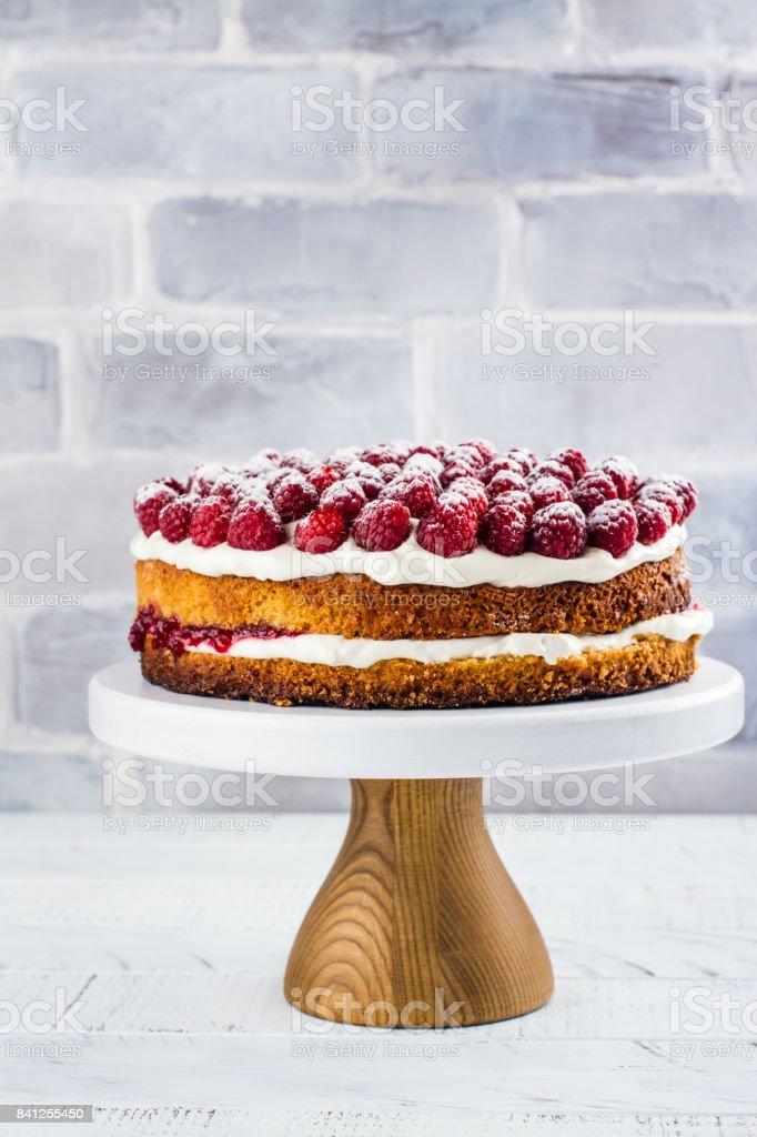 Gâteau maison de framboise - Photo