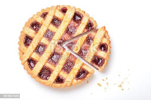 Raspberry Pie Isolated on White