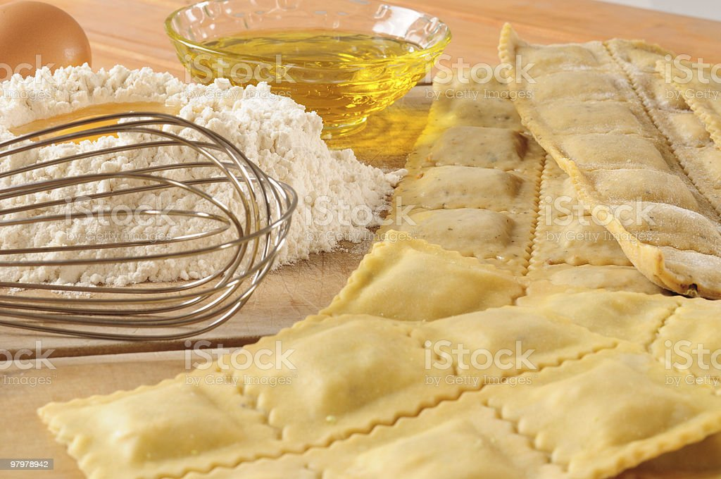 Homemade raviolis. Series, see more... royalty-free stock photo