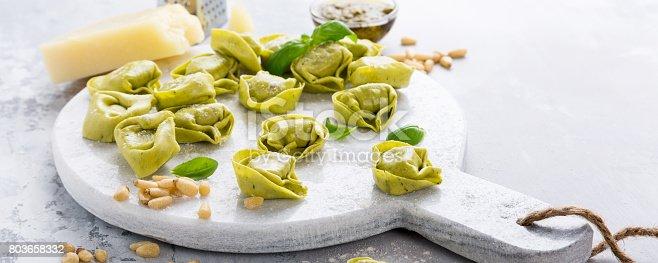 istock Homemade raw Italian tortelloni 803658332