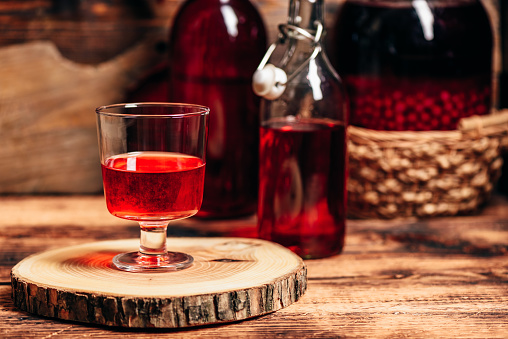 istock Homemade red currant liquor 1133586192