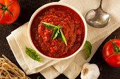 Homemade Red Italian Marinara Sauce