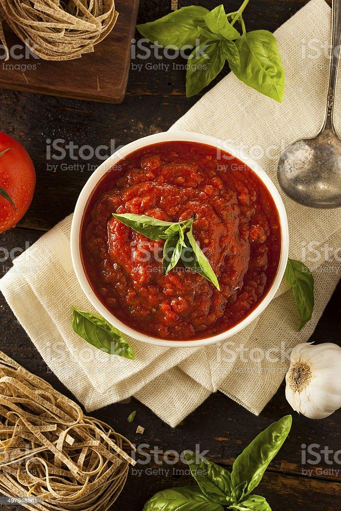 Homemade Red Italian Marinara Sauce stock photo