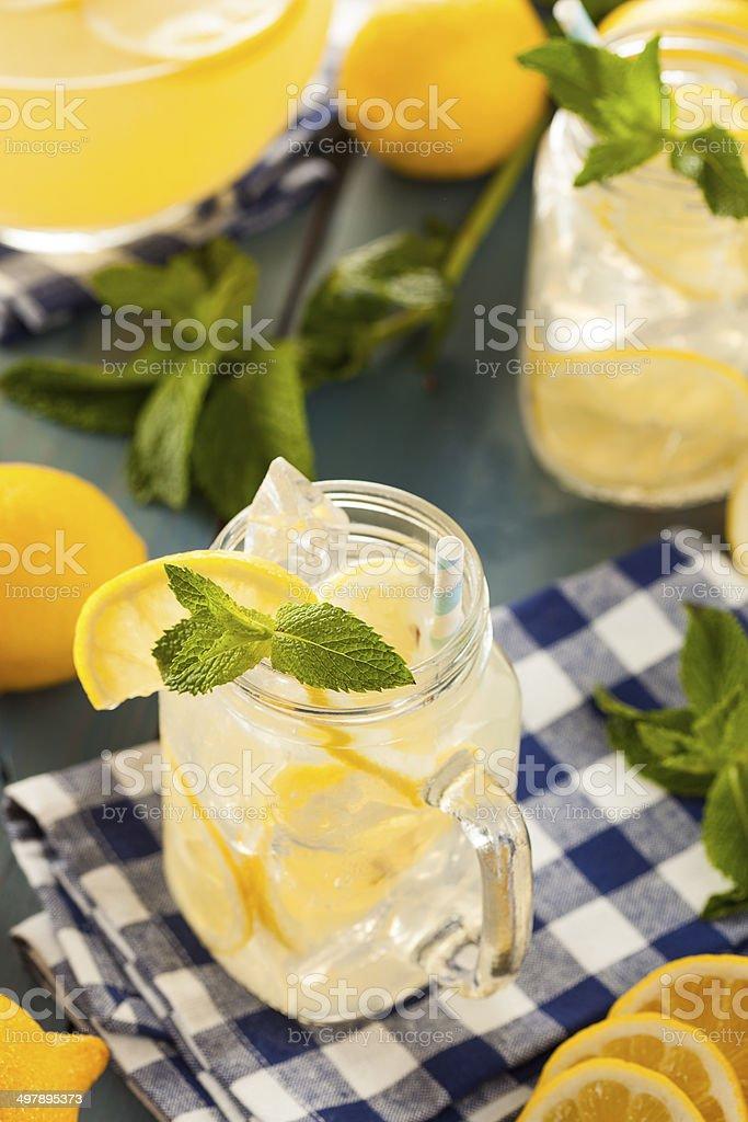 Homemade Refreshing Yellow Lemonade stock photo