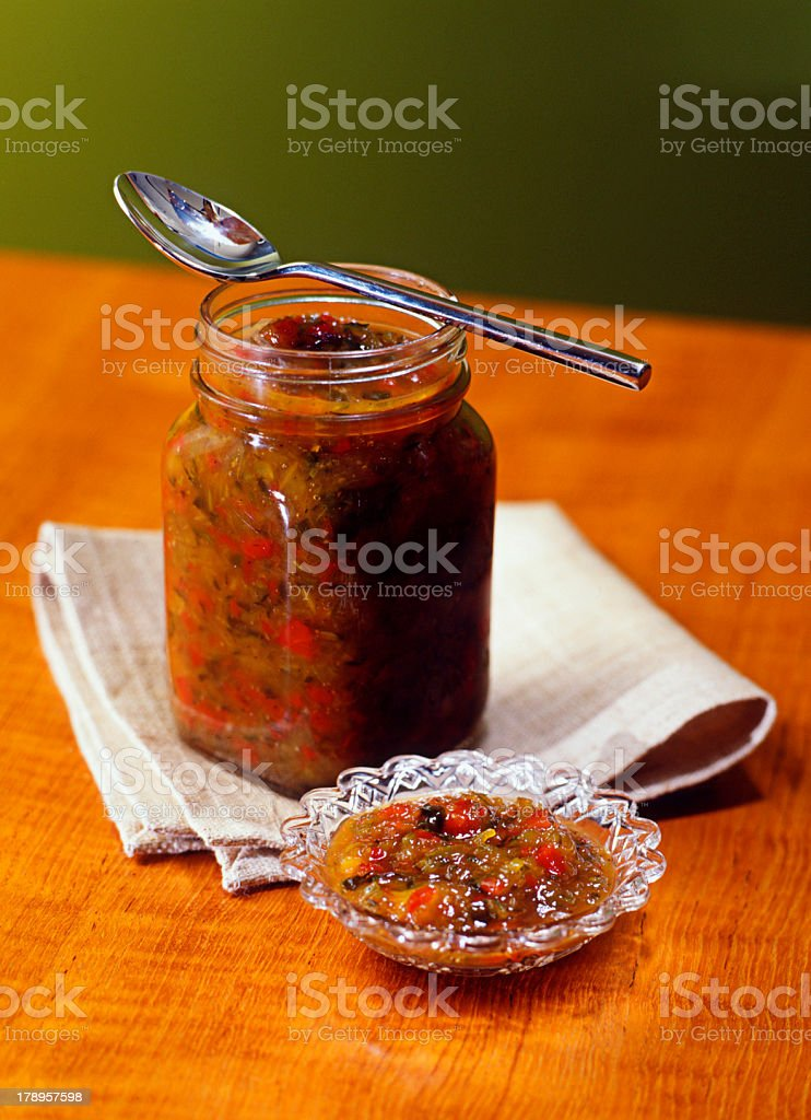 Homemade Relish royalty-free stock photo