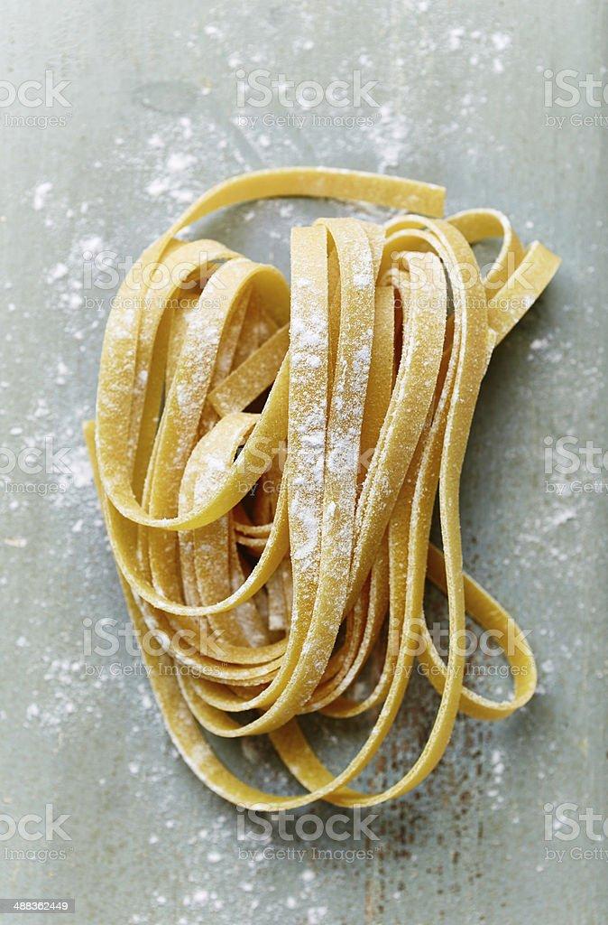 Homemade Ribbon Pasta stock photo