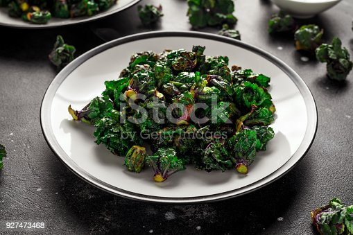 istock Homemade Roasted Green Kalettes on plate. healthy food 927473468