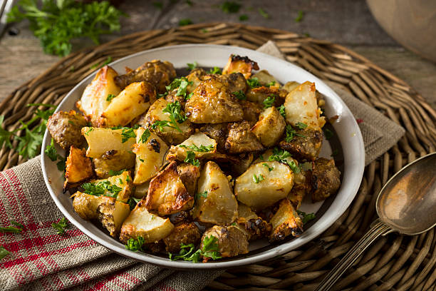 Homemade Roasted Jerusalem Artichoke Sunchokes - foto stock
