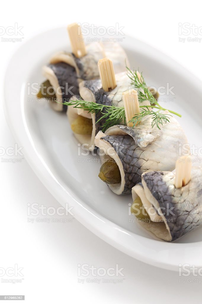 homemade rollmops stock photo