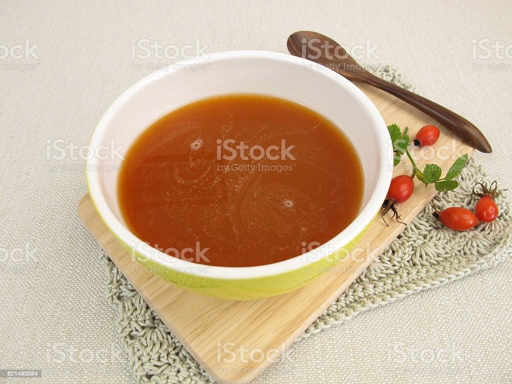 Homemade rose hip soup Lizenzfreies stock-foto