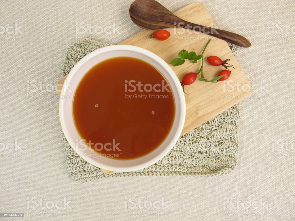 Homemade rose hip soup photo libre de droits