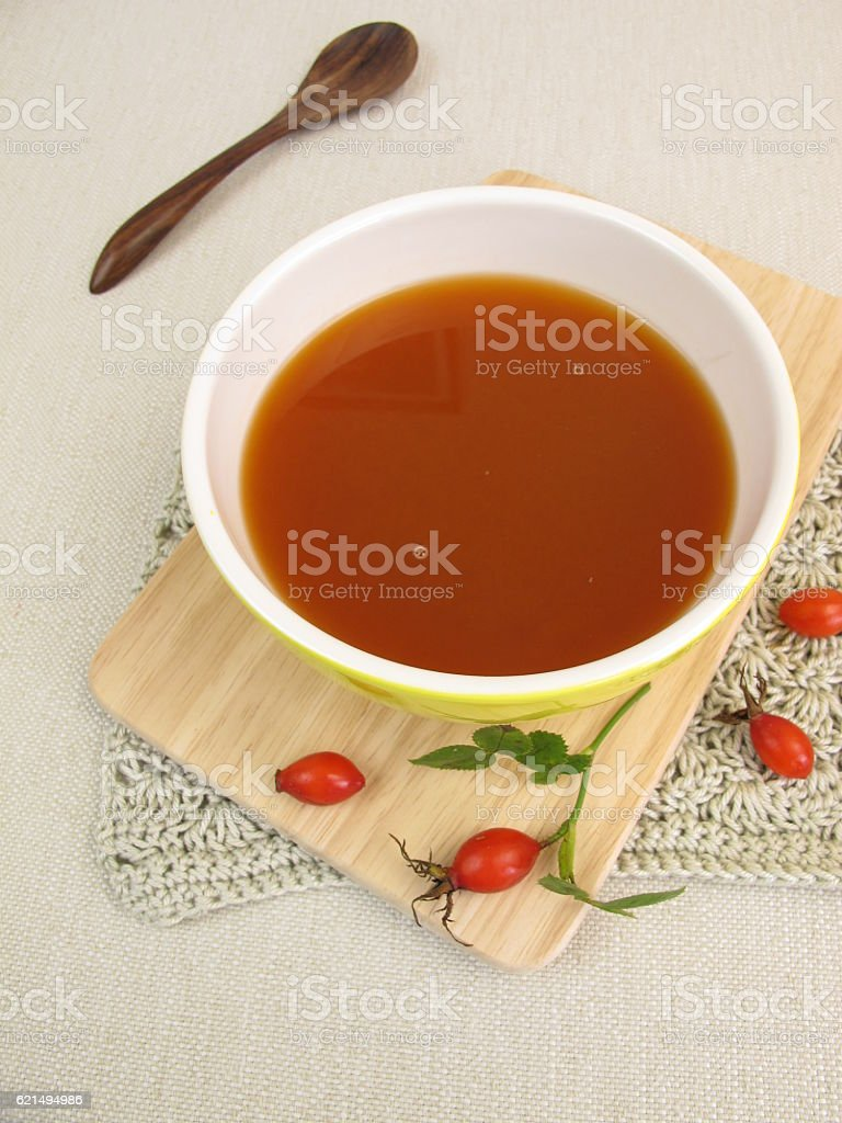 Homemade rose hip soup foto stock royalty-free