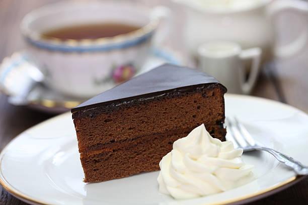 homemade sachertorte, Austrian chocolate cake