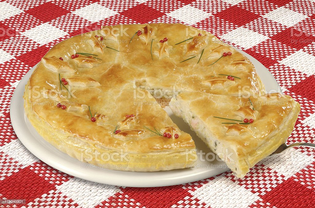Homemade salad pie - quiche royalty-free stock photo