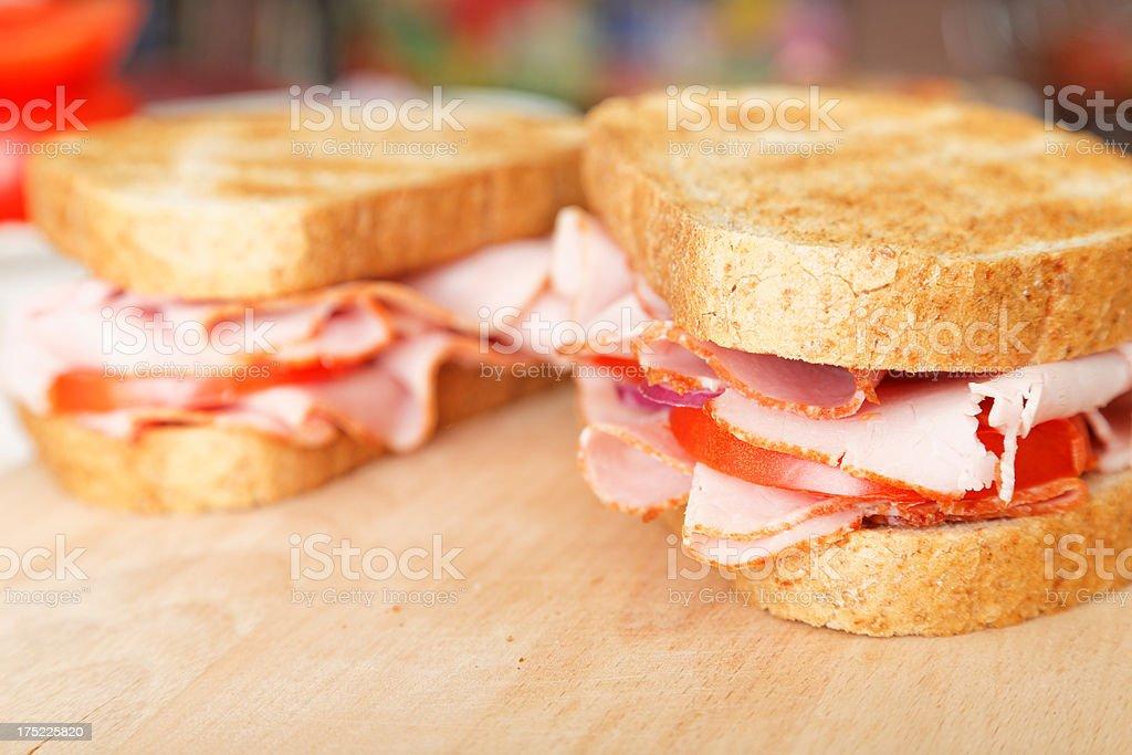 Homemade sandwiches XXXL royalty-free stock photo