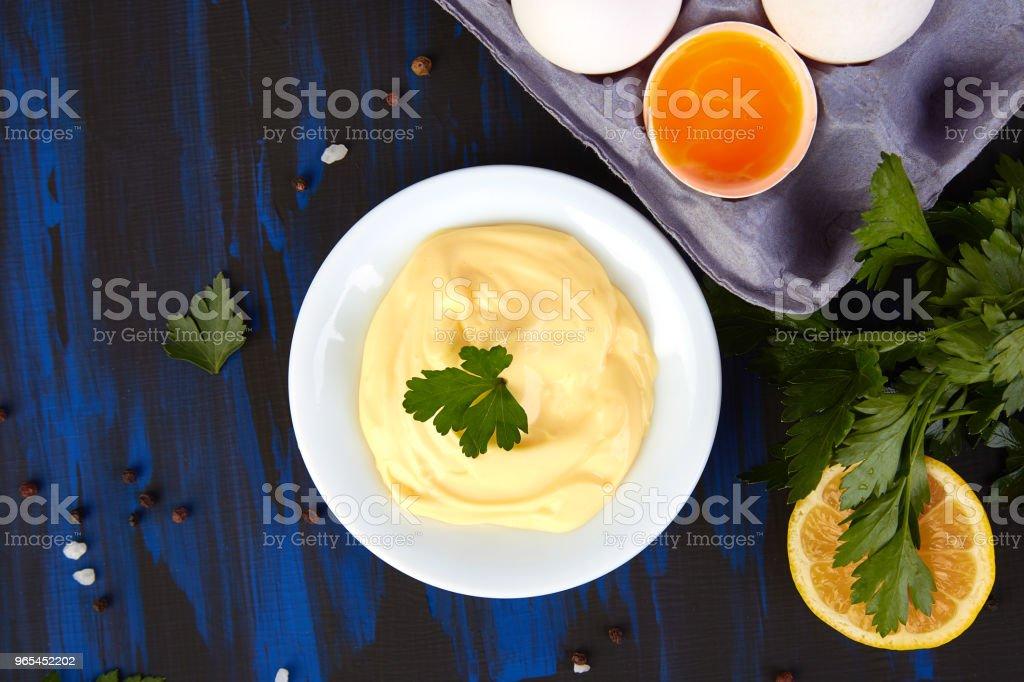 Homemade sauce Mayonnaise zbiór zdjęć royalty-free