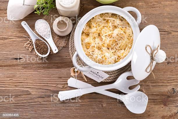 Hausgemachte Sauerkraut Stockfoto und mehr Bilder von Blatt - Pflanzenbestandteile