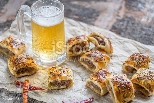 istock Homemade sausage rolls 494384128