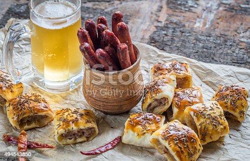istock Homemade sausage rolls 494543850