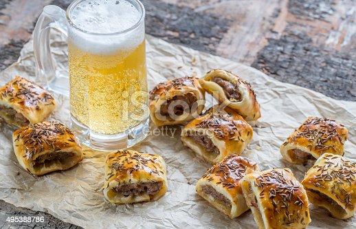 istock Homemade sausage rolls 495388786