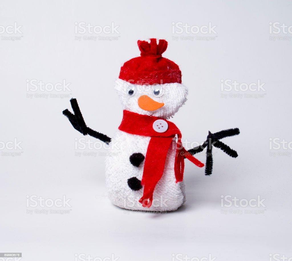 Muñeco de nieve casera foto de stock libre de derechos