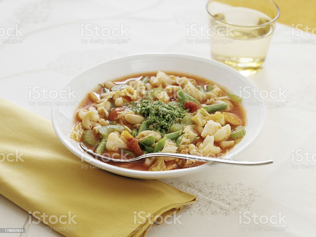 Homemade Soup royalty-free stock photo