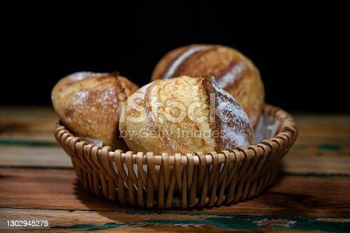 homemade sourdough breads in basket