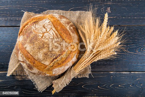 istock Homemade sourdouhg bread loaf 545250096