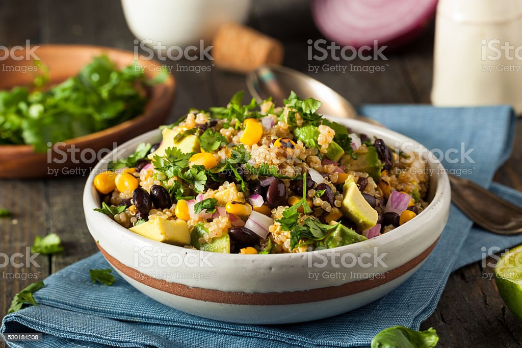 Homemade Southwestern Mexican Quinoa Salad stock photo