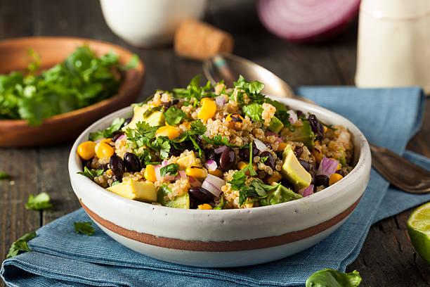 Homemade Southwestern Mexican Quinoa Salad stock photo