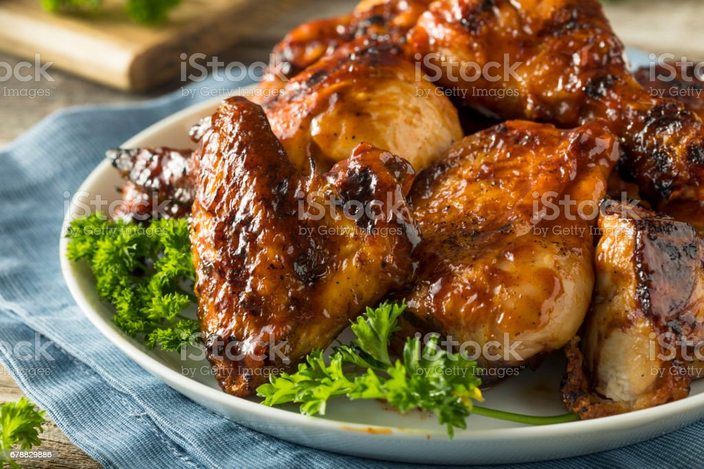 Homemade Spicy Barbecue BBQ Chicken royalty-free stock photo