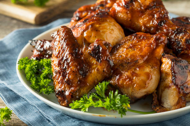 Homemade Spicy Barbecue BBQ Chicken stock photo