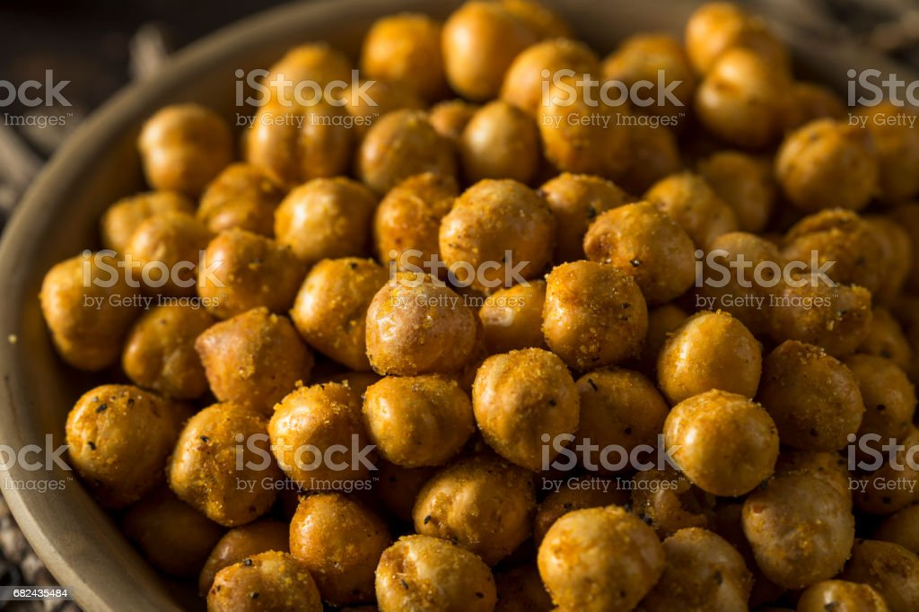 Homemade Spicy Salted Baked Chickpeas royalty-free stock photo