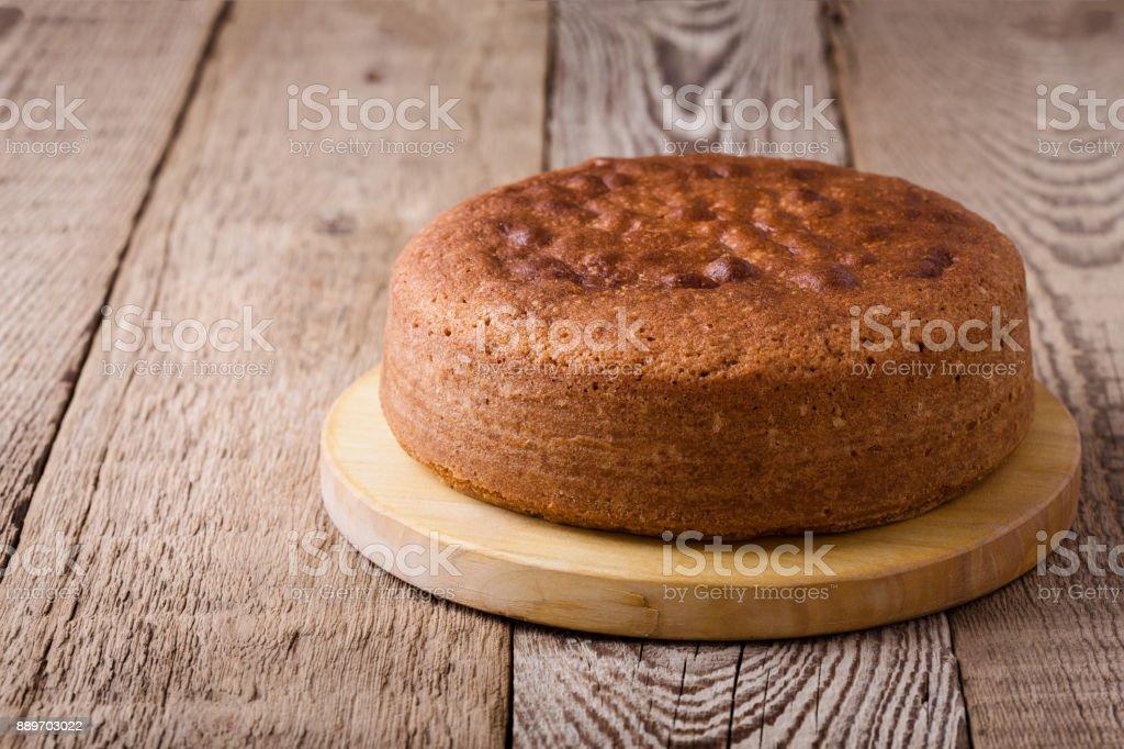 Homemade sponge cake stock photo