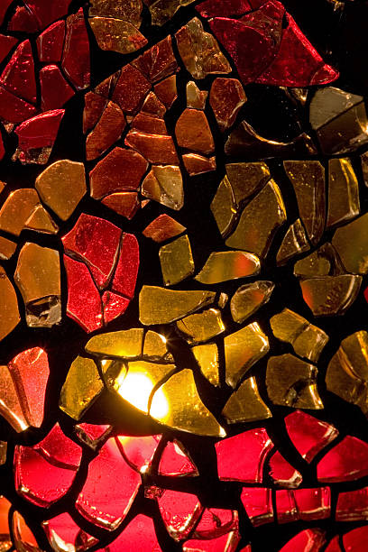 Homemade Stained Glass Vase Stock Photo More Pictures Of Abstract