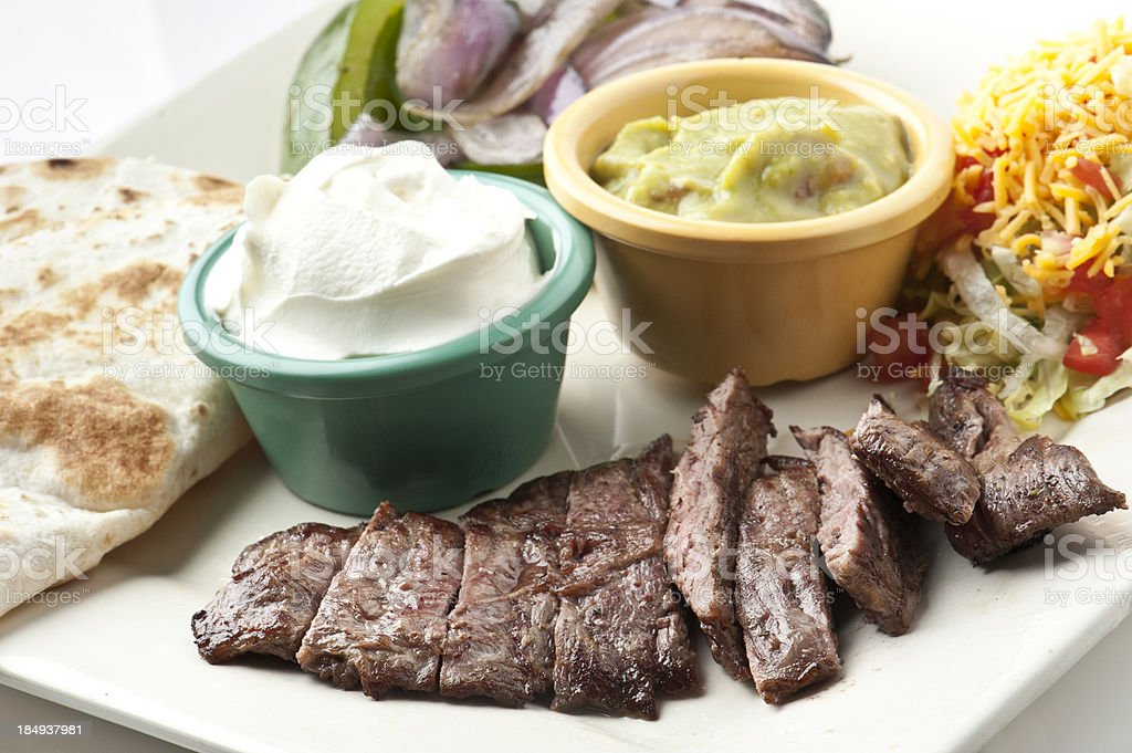 Homemade steak fajitas stock photo