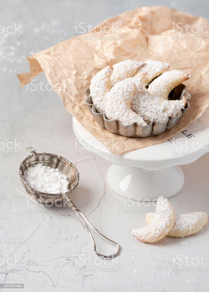 Homemade sugar vanilla cookies. stock photo