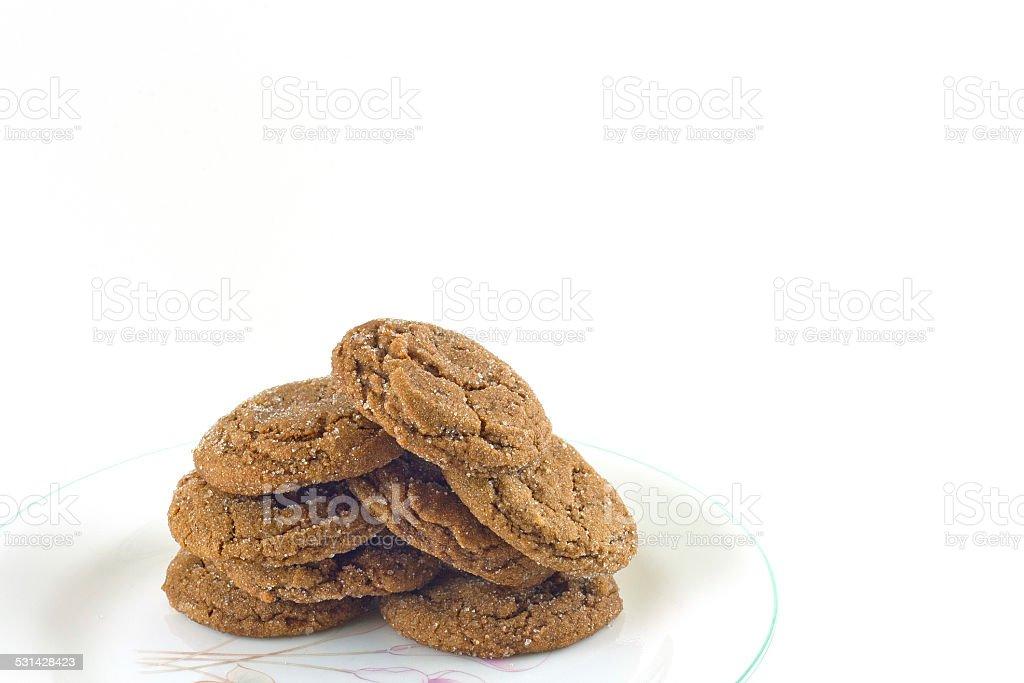 Homemade Sugared Molasses Cookies stock photo