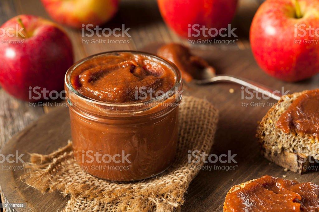 Homemade Sweet Apple Butter - Royalty-free Appel Stockfoto