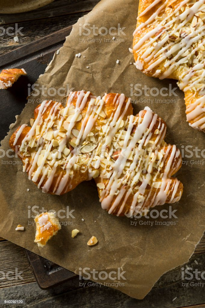 Homemade Sweet Breakfast Bear Claw Pastry stock photo